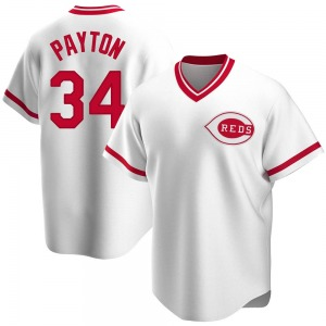Mark Payton Cincinnati Reds Replica Home Cooperstown Collection Jersey - White
