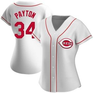 Mark Payton Cincinnati Reds Women's Authentic Home Jersey - White