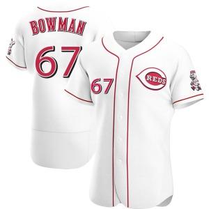 Matt Bowman Cincinnati Reds Authentic Home Jersey - White