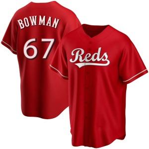 Matt Bowman Cincinnati Reds Replica Alternate Jersey - Red