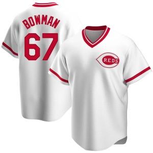 Matt Bowman Cincinnati Reds Replica Home Cooperstown Collection Jersey - White