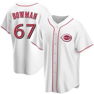 Matt Bowman Cincinnati Reds Replica Home Jersey - White