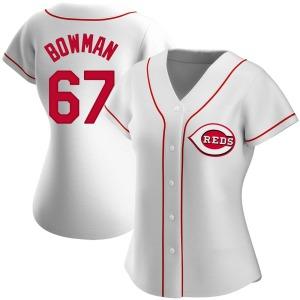 Matt Bowman Cincinnati Reds Women's Authentic Home Jersey - White