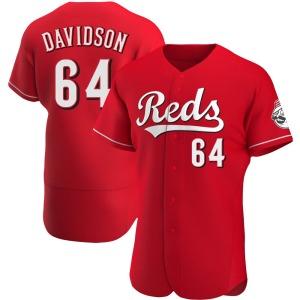 Matt Davidson Cincinnati Reds Authentic Alternate Jersey - Red