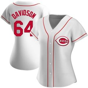 Matt Davidson Cincinnati Reds Women's Authentic Home Jersey - White