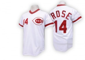 Pete Rose Cincinnati Reds Authentic Throwback Mitchell and Ness Jersey - White