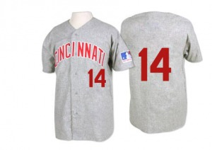 Pete Rose Cincinnati Reds Replica 1969 Throwback Mitchell and Ness Jersey - Grey