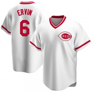 Phillip Ervin Cincinnati Reds Replica Home Cooperstown Collection Jersey - White