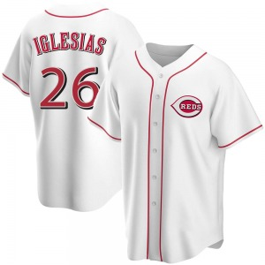 Raisel Iglesias Cincinnati Reds Replica Home Jersey - White