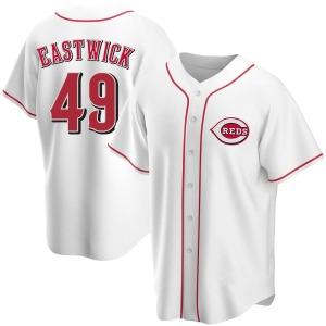 Rawly Eastwick Cincinnati Reds Replica Home Jersey - White