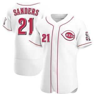 Reggie Sanders Cincinnati Reds Authentic Home Jersey - White