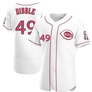 Rob Dibble Cincinnati Reds Authentic Home Jersey - White