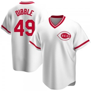 Rob Dibble Cincinnati Reds Replica Home Cooperstown Collection Jersey - White