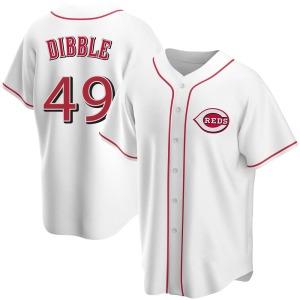 Rob Dibble Cincinnati Reds Replica Home Jersey - White