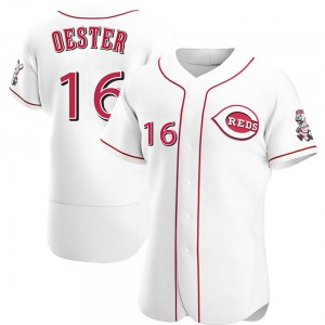 Ron Oester Cincinnati Reds Authentic Home Jersey - White