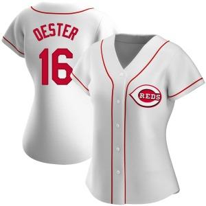 Ron Oester Cincinnati Reds Women's Replica Home Jersey - White