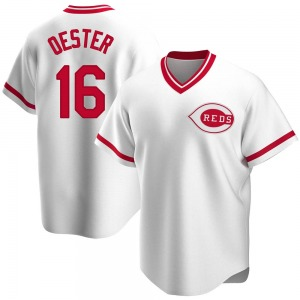 Ron Oester Cincinnati Reds Youth Replica Home Cooperstown Collection Jersey - White