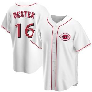 Ron Oester Cincinnati Reds Youth Replica Home Jersey - White