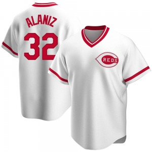 Ruben Alaniz Cincinnati Reds Replica Home Cooperstown Collection Jersey - White