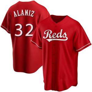 Ruben Alaniz Cincinnati Reds Youth Replica Alternate Jersey - Red