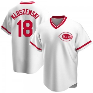 Ted Kluszewski Cincinnati Reds Replica Home Cooperstown Collection Jersey - White