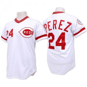 Tony Perez Cincinnati Reds Authentic Throwback Mitchell and Ness Jersey - White