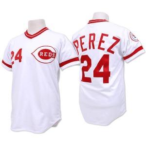 Tony Perez Cincinnati Reds Replica Throwback Mitchell and Ness Jersey - White