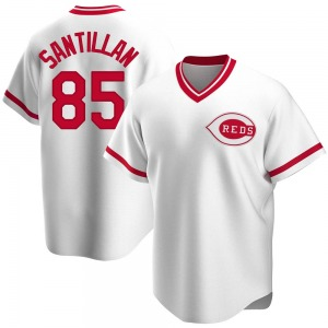 Tony Santillan Cincinnati Reds Youth Replica Home Cooperstown Collection Jersey - White