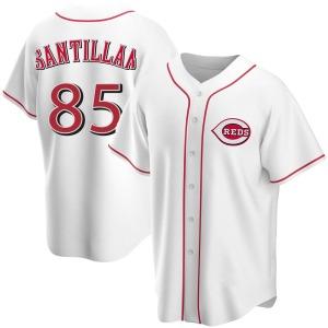 Tony Santillan Cincinnati Reds Youth Replica Home Jersey - White