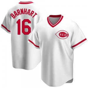 Tucker Barnhart Cincinnati Reds Youth Replica Home Cooperstown Collection Jersey - White