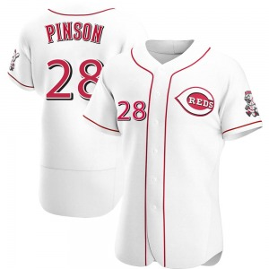 Vada Pinson Cincinnati Reds Authentic Home Jersey - White