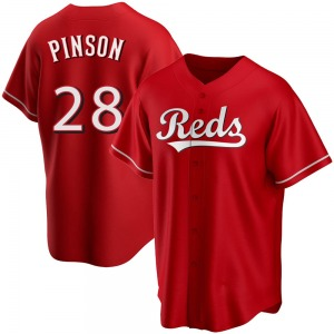 Vada Pinson Cincinnati Reds Replica Alternate Jersey - Red