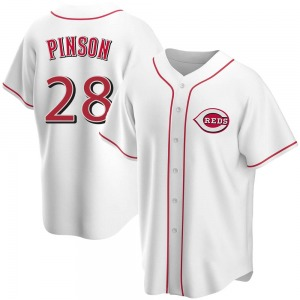 Vada Pinson Cincinnati Reds Youth Replica Home Jersey - White