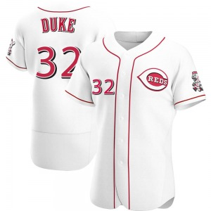 Zach Duke Cincinnati Reds Authentic Home Jersey - White