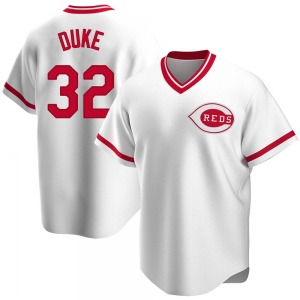 Zach Duke Cincinnati Reds Replica Home Cooperstown Collection Jersey - White