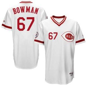 Matt Bowman Cincinnati Reds Youth Replica Cool Base Turn Back the Clock Team Majestic Jersey - White