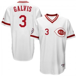 Freddy Galvis Cincinnati Reds Youth Replica Cool Base Turn Back the Clock Team Majestic Jersey - White
