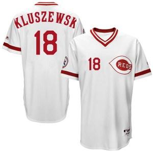 Ted Kluszewski Cincinnati Reds Youth Replica Cool Base Turn Back the Clock Team Majestic Jersey - White