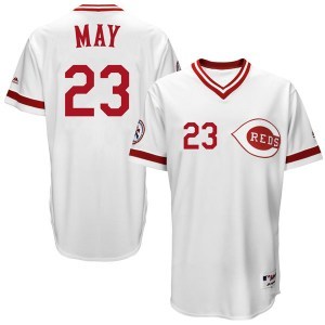 Lee May Cincinnati Reds Youth Replica Cool Base Turn Back the Clock Team Majestic Jersey - White