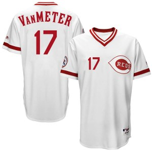 Josh VanMeter Cincinnati Reds Youth Replica Cool Base Turn Back the Clock Team Majestic Jersey - White