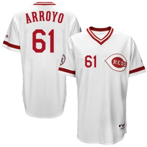 Bronson Arroyo Cincinnati Reds Replica Cool Base Turn Back the Clock Team Majestic Jersey - White