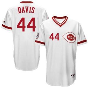 Eric Davis Cincinnati Reds Replica Cool Base Turn Back the Clock Team Majestic Jersey - White