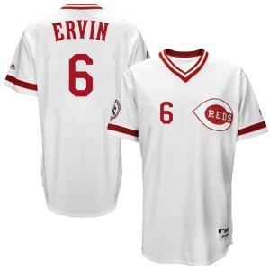 Phillip Ervin Cincinnati Reds Replica Cool Base Turn Back the Clock Team Majestic Jersey - White