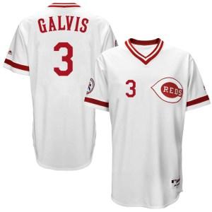 Freddy Galvis Cincinnati Reds Replica Cool Base Turn Back the Clock Team Majestic Jersey - White