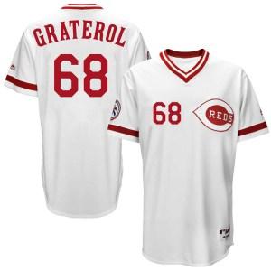Juan Graterol Cincinnati Reds Replica Cool Base Turn Back the Clock Team Majestic Jersey - White