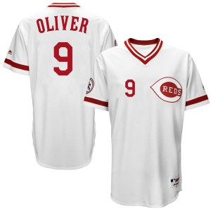 Joe Oliver Cincinnati Reds Replica Cool Base Turn Back the Clock Team Majestic Jersey - White