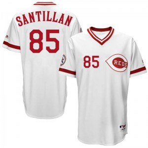 Tony Santillan Cincinnati Reds Replica Cool Base Turn Back the Clock Team Majestic Jersey - White