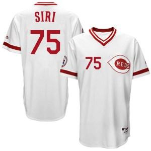 Jose Siri Cincinnati Reds Replica Cool Base Turn Back the Clock Team Majestic Jersey - White
