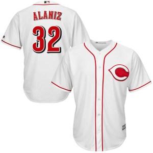 Ruben Alaniz Cincinnati Reds Replica Cool Base Home Majestic Jersey - White