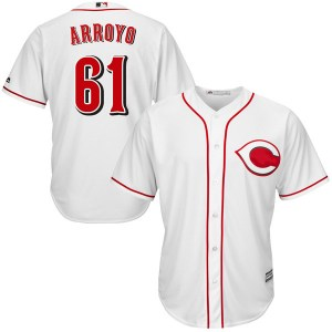 Bronson Arroyo Cincinnati Reds Replica Cool Base Home Majestic Jersey - White